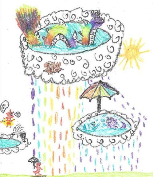 h - rainbow rain